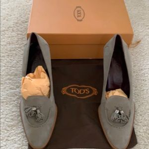 Tod's high heel Tassel Loafers